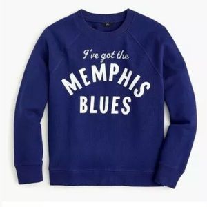 "New J.Crew ""memphis Blues"" Sweatshirt"